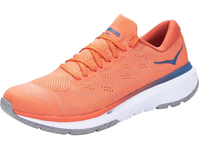 Hoka One One Cavu 3 Shoes Men mandarin red/white